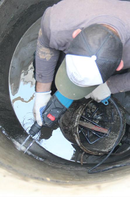 Как мы выполняем ремонт колодцев в Уваровке